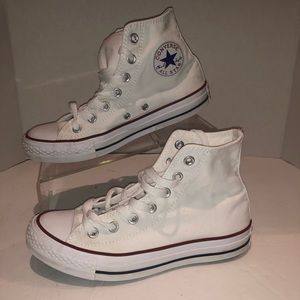 Converse white high tops women's size 7